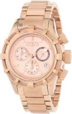 Invicta Women's 40mm Chronograph Rose Gold Steel Bracelet & Case Watch 12460