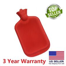 Rubber HOT WATER BOTTLE Bag WARM Relaxing Heat / Cold Therapy RED