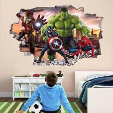 Avengers Superhero Wall Art Stickers Mural Decal Hulk Spiderman Iron Man EA89