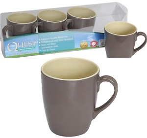 Quest Leisure Set of 4 Burslem Melamine Kitchen Camping Mug Set T0001