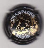 capsule de champagne P. REDON, n° 1, noir dessin or