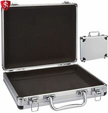 Aluminum Briefcase Attache Mens Business Travel Silver Flight Hard Case Bag Thin