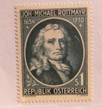 AUSTRIA $1 Joh-Micheal Rottmayr Scott #594 * MH, very fine + 102 card