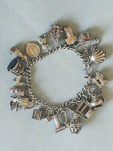 Fabulous Vintage Silver Charm Bracelet