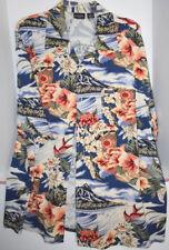 Vintage Guess Jeans Men XL Shirt Button Down Hawaiin Tropical Short Sleeve