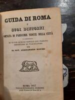Guida di Roma e i suoi dintorni, Alessandro Rufini, 1857 RARO e RESTAURATO