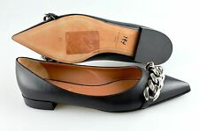 Women's GIVENCHY 'Chain' Black Leather Ballerina Flats US 8 EUR 39