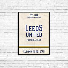 Elland Road Leeds United A4 Picture Art Poster Retro Vintage Style Print