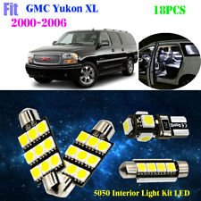 18Bulb 5050 LED Xenon White 6K Interior Light Kit Fit For 2000-2006 GMC Yukon XL