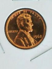 1962~PROOF~ LINCOLN MEMORIAL~ CENT~ PENNY - CHOICE PROOF U.S. COIN IN 2X2