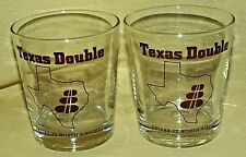 DALLAS FT WORTH SHOT GLASS SET 2 TEXAS DOUBLE SHOT HIGH LOW BALL BAR BARWARE*