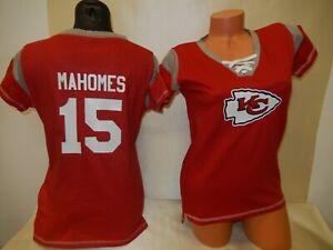 0228 Womens Kansas City Chiefs PATRICK MAHOMES Football Jersey SHIRT RED New
