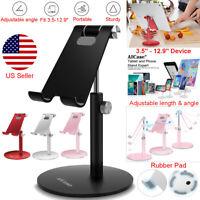 Universal Aluminum Desktop Desk Stand iPad Tablet iPhone Samsung LG Mount Holder