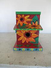 "Handmade Wooden Birdhouse, Handpainted, Great Condition, 9"" x 9"" x 7"""