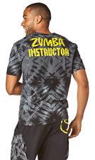 Zumba Men's Dancing Warrior Instructor V Neck Tee - Bold Black Z2T00332