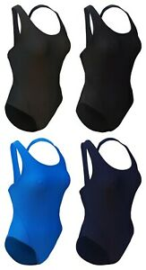 CHEX Fitness Jamaica Ladies Swimming Costume Swim Suit Racer Strapped Back Lycra