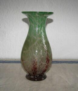 Art Deco WMF Ikora Glas Vase Karl Wiedmann