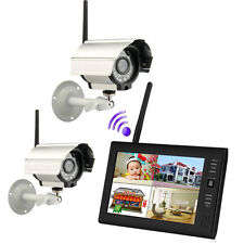 "Wireless 7""TFT LCD 2.4G 4CH CCTV DVR Security System Monitor Night Vision Camera"