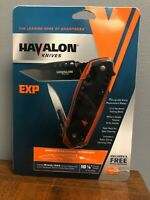 Havalon Knives EXP Pocket Folding Knife + 12 Piranta 60A Extra Blades + Holster.