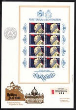 Briefmarken aus Liechtenstein mit Religions-Motiv