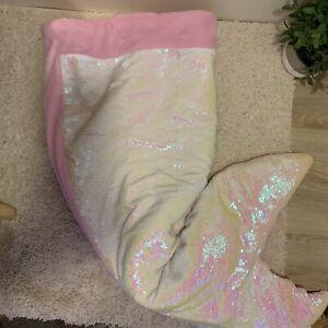 Cynthia Rowley flip sequined mermaid tail plush blanket sleeping bag 22X56 pink
