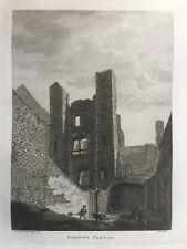 1791 Antique Print; Browns Castle / Prison, Dublin, Ireland by Grose / Cocking
