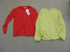 lot 10-12 Ans Okaidi DPAM 2 pulls coton (l'un neuf)  orange et citron