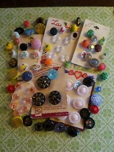 Collectible Realistic Moonglow Glass Buttons