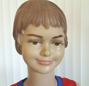Child mannequin Head, Halloween display, Life size, Girl Smiling Face B3