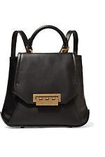 BNWT ZAC ZAC POSEN Eartha Envelope leather backpack, Black