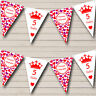 Pink Red Hearts Princess Girls Children's Birthday Party Bunting Banner