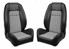 TMI Pro Series Sport Bucket Seats for 1968 Camaro, Black w/Houndstooth, Brackets