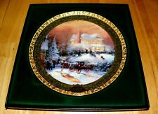 Thomas Kinkade Annual Collector Plate 2001 Victorian Christmas Ii 3rd Issue