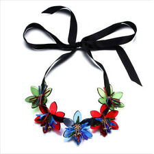 Marni H&M Multi Color Five Flowers Pendant Necklaces