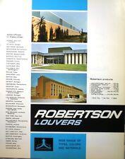 Robertson Galbestos ASBESTOS Louver Wall Siding Catalog 1969