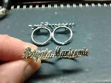 anello doppio dito personalizzato con 2 nomi ARGENTO 925 ANELLI IN OTTONE