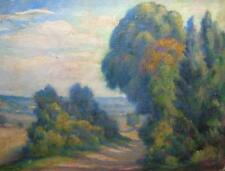 CIRCA 1920-Grand impressionniste français Huile Bien-Couleur-indistinctement signé