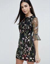 Impresionante Lipsy Floral Vestido Recto Bordado Talla 14 usado una vez PVP 106.00 $