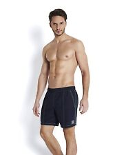 Speedo Men's Waters Shorts Check Trim Leisure 16 Inch M Black / Green (se1295)
