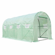 Protable Walk In Green Hot House Cover Frame Dome Kit Plant Garden 16'x7'X7'