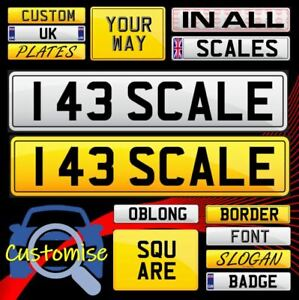 1/43 Scale Personalised Number Plates Model Car Truck Diorama +FREE [Norev etc..