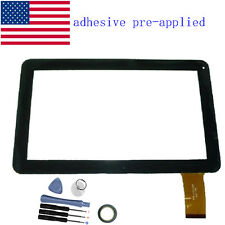 50pin Touch Screen Glass Digitizer panel Fr 10.1'' Linsay KitKat F-10XHD Tablet
