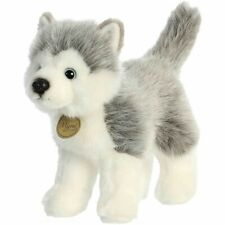 New Aurora Miyoni Soft Stuffed Plush Toy Siberian Husky Animal Puppy Dog 10""