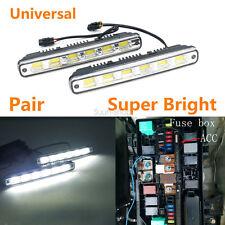 DC 12V/24V White COB LED Car Daytime Running Light DRL Fog Lamp