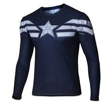 Mens Marvel Compression Armour Base Layer Gym Top Superhero Long Sleeve T-shirt