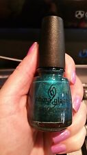 China Glaze Techno Teal Nail Polish Lacquer Tronica Holographic Holo Collection