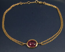 Pink Tourmaline & 18K Rose Gold Bracelet