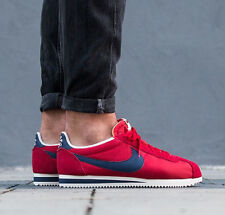 NIKE CLASSIC CORTEZ NYLON AW Running Trainers Gym Fashion - UK 11 (EUR 46) Red