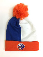 New York Islanders Mitchell and Ness Over and Back Knit Beanie Hat
