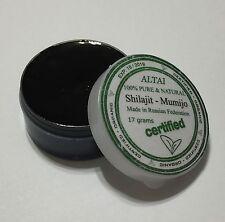 100% Pure Shilajit Resin Original Altai Himalayan Paste Russian Мумие 17g Jar